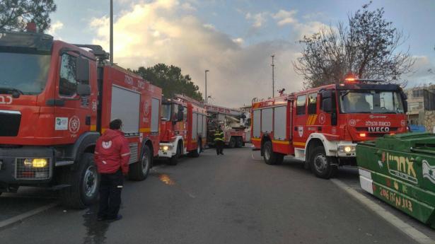 حريق في عكا وجت ونقل طفل للمشفى