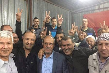 جابر ابو كف يتحدث للشمس بعد فوزه برئاسة مجلس القسوم في النقب