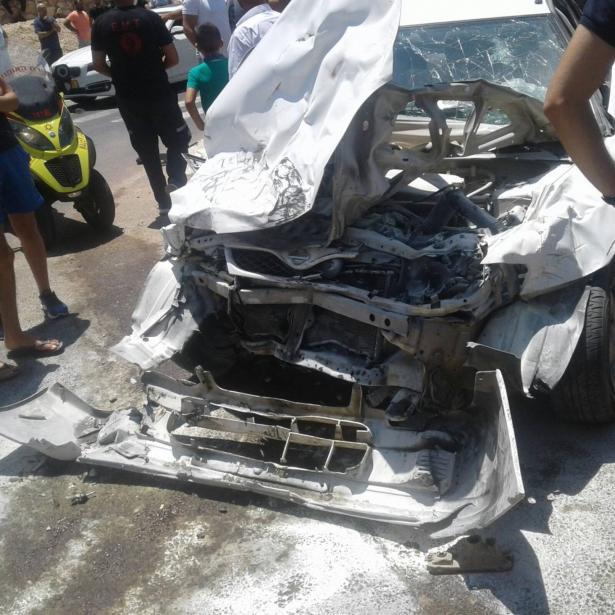 اصابة 4 اشخاص في حادث طرق وقع بين عرابة ودير حنا