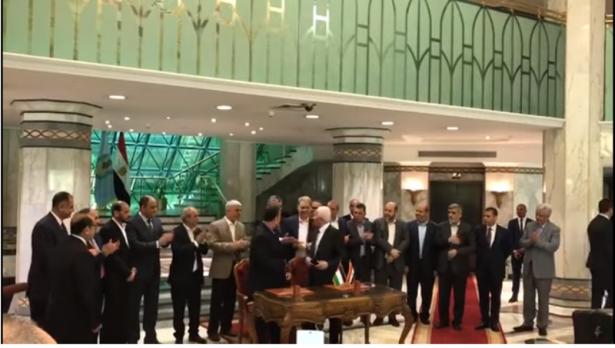 توقيع اتفاق المصالحة بين حركتي فتح وحماس في القاهرة
