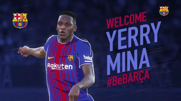رسمياً: برشلونة يُعلن عن التعاقد مع الكولومبي ياري مينا