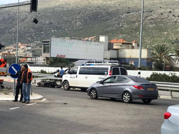 مجد الكروم: اصابات خطرة لمسن وشاب جراء حادث طرق اليم