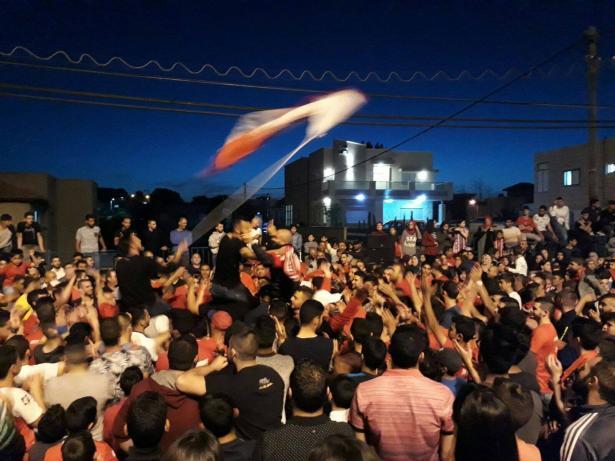 شاهد: احتفالات في اكسال بعد صعود فريق هبوعيل إلى الدرجة الممتازة