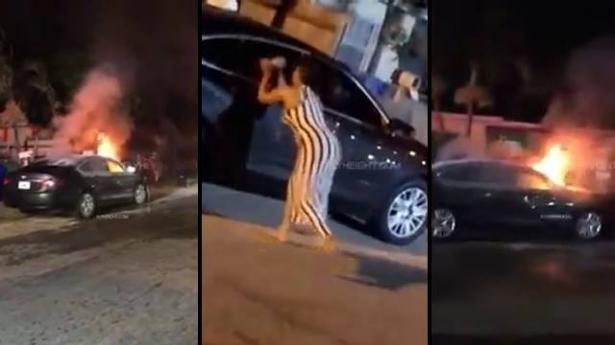 بالفيديو... فتاة غاضبة تعاقب صديقها الخائن بطريقة قاسية