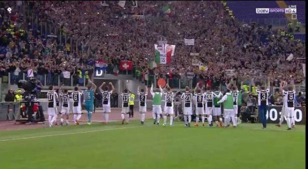 يوفنتوس يتوج بلقب الدوري الإيطالي بتعادله مع روما