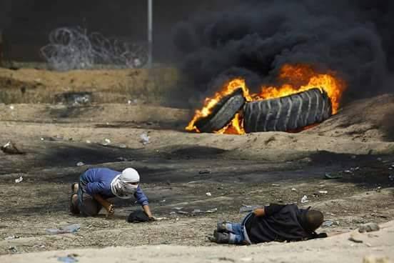 استشهاد شاب فلسطيني وارتفاع عدد الشهداء منذ بدء مسيرات العودة الى 45