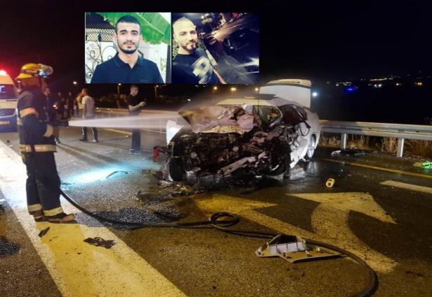 مصرع الشابين صالح قدح من كفرمندا ومحمد خوالد من عرب الخوالد بحادث طرق مروع قرب كفرمندا