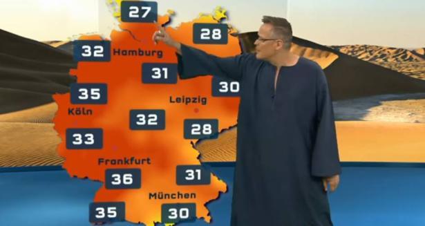 بالفيديو... مذيع ألماني يقدم نشرة الطقس بـ