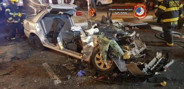 حيفا: حادث مروع يسفر عن إصابة 5 أشخاص أحداها خطيرة