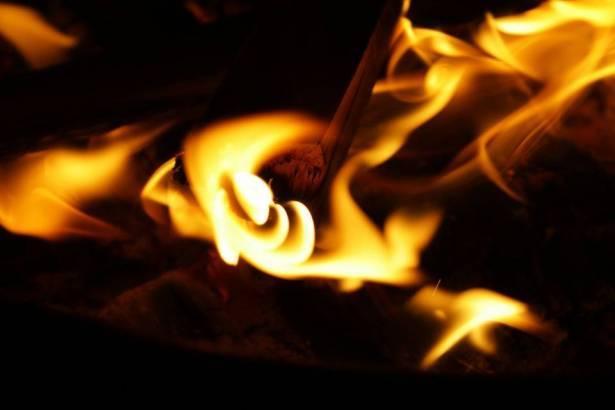 حريق في جرافة في دير الأسد