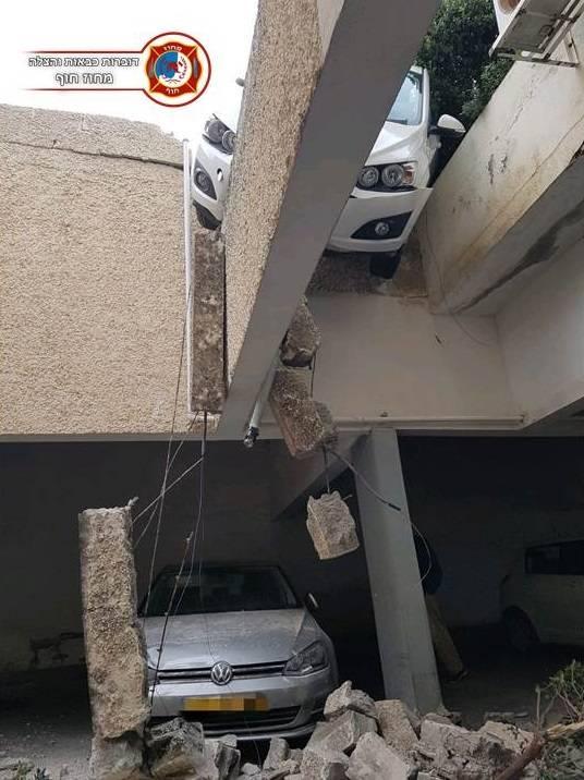حيفا: سائقة تفقد السيطرة على سيارتها في موقف سيارات فتنقلب