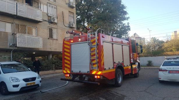حريق بشقة سكنية ببئر السبع يؤدي الى اصابة سيدة بجراح متوسطة
