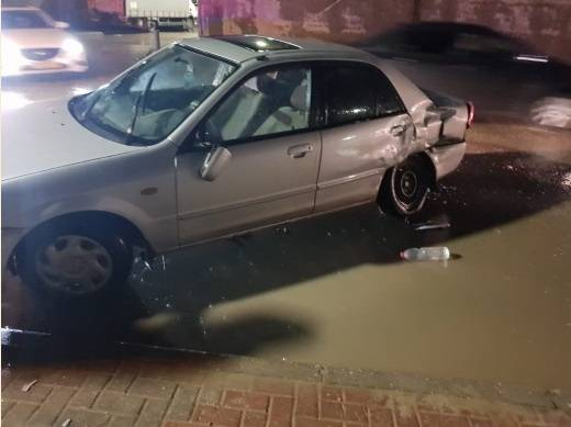 سيرين تايه للشمس: شرطي لم يلتزم باشارة المرور  واصطدم بسيارة زوجي فأصيب بكسور