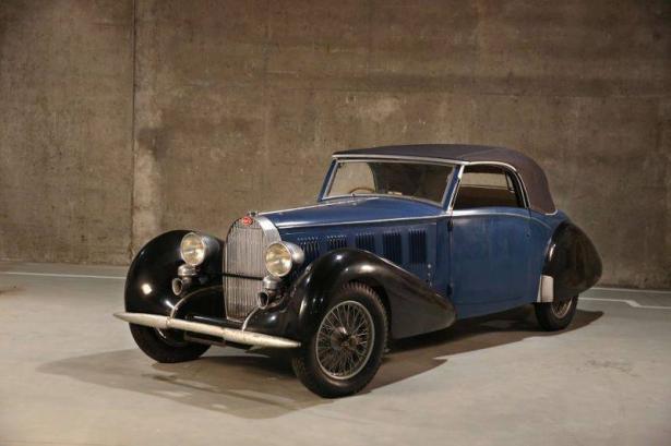"""""""بالفيديو والصور"""" 3 سيارات بوجاتي صنعت قبل الحرب العالمية الثانية تعرض في مزاد عالمي"""