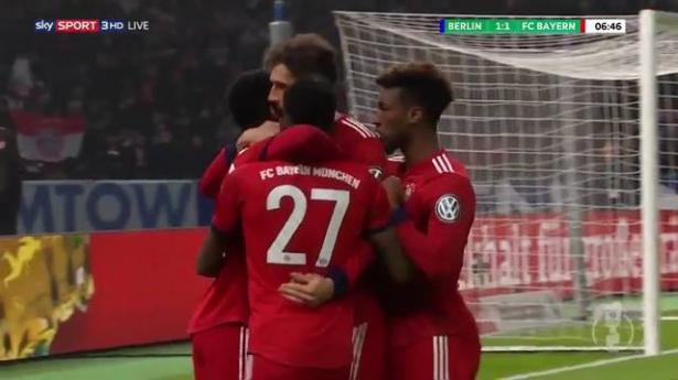 بايرن ميونخ يتأهل لربع نهائي كأس ألمانيا بفوز صعب على هيرتا برلين