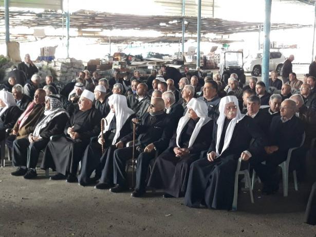 عقد مراسم الصلح في عرابة بين آل عاصلة وآل بدارنة