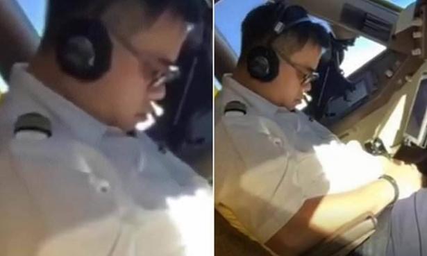 بالفيديو.. طيار صيني نائم والطائرة تحلق بالسماء