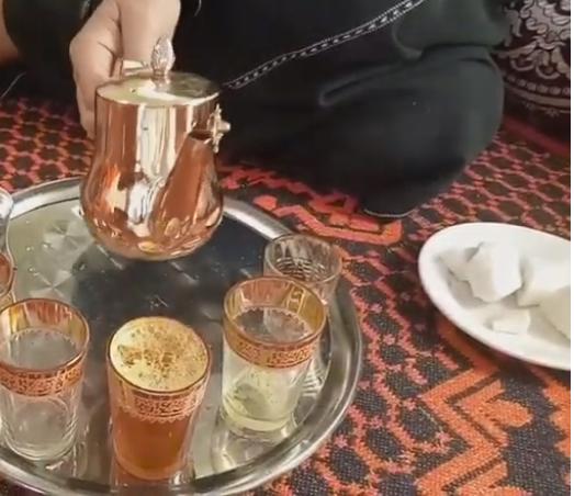 شاي الزعفران