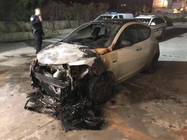 طرعان: اضرام النار بسيارة مواطن