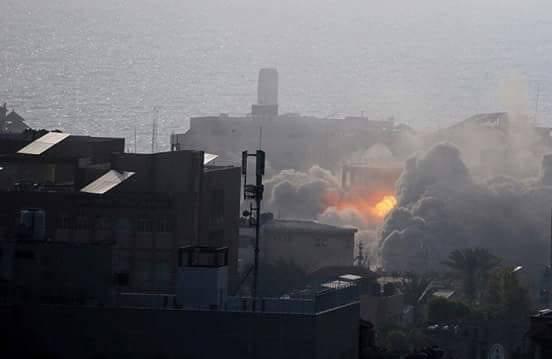 غارات حربية على مواقع في غزة