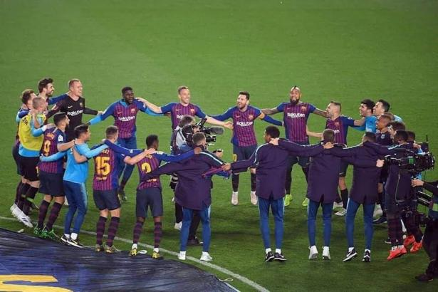 هدف ميسي ضد ليفانتي يتوج برشلونة بطلاً رسمياً للدوري الإسباني
