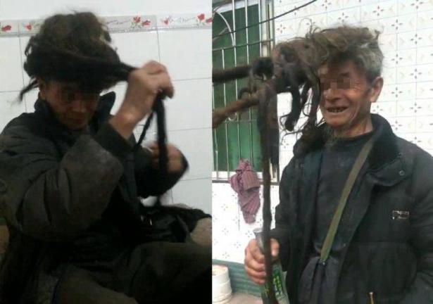 بالفيديو... رجل لم يقص شعره منذ 54 عاما