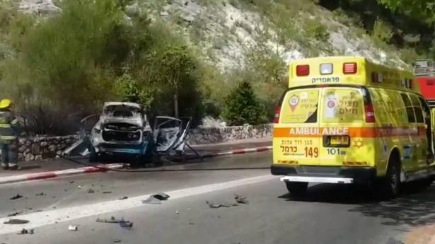 مصرع شخص بانفجار سيارة في منطقة نيشر قرب حيفا