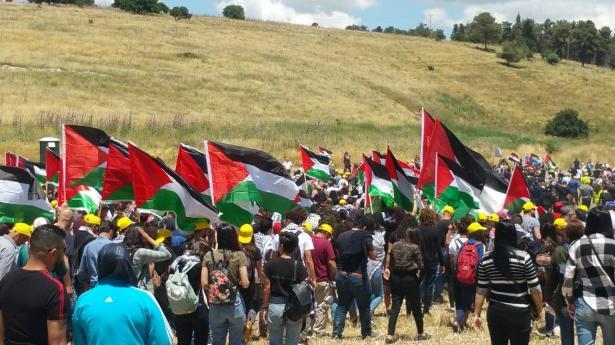 انتهاء فعاليات مسيرة العودة الـ22 إلى قرية خبيزة المهجرة بمشاركة الآلاف
