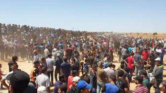 ابو عمرة للشمس: الامور خرجت عن السيطرة بعد تدفق اعداد هائلة من المتظاهرين نحو السياج الحدودي