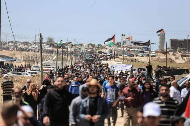 ابو ظريفة للشمس: المسيرات انطلقت لتبقى قضية فلسطين على الأجندة في ظل صفقة القرن