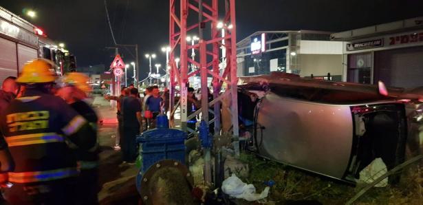 اصابة خطيرة لشاب من الجديدة بحادث طرق مروع في المنطقة التجارية يركا