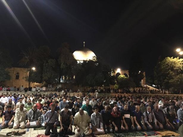 سماحة المفتي محمد حسين يتحدث للشمس عن الأجواء العامة في المسجد الأقصى عشية ليلة القدر والاستعدادات لها