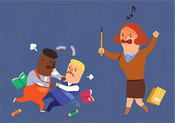 أسباب العنف المدرسي
