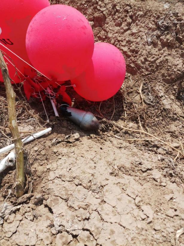 العثور على بالونات حارقة في مستوطنة بغلاف غزة