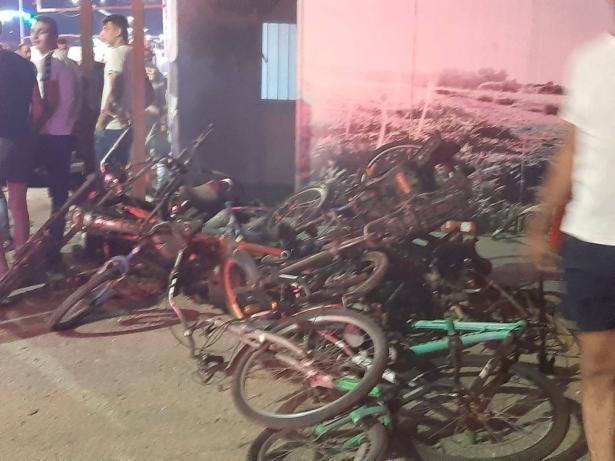 مجد الكروم: حريق يطال حانوتًا لبيع الدراجات