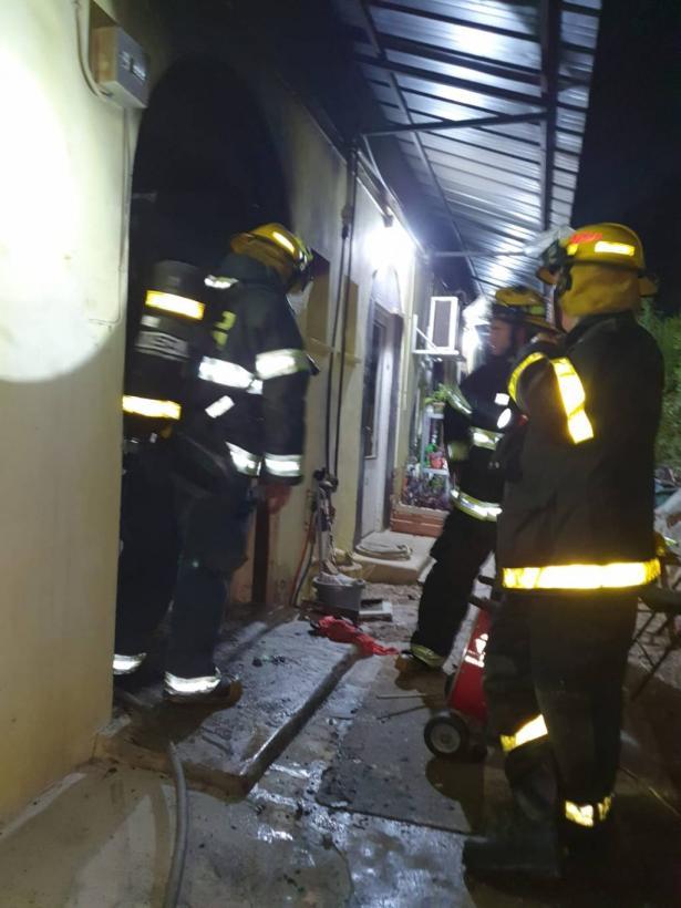 اصابة سيدة جراء حريق في الناصرة
