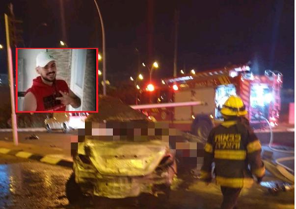 فاجعة في الطيرة: مصرع عزمي منصور بعد ارتطام سيارته بشارة ضوئية واشتعالها