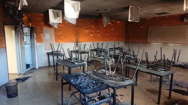 نايف الزيادنة للشمس: نتلقى بلاغات اسبوعية بإضرام نيران في أطر تعليمية عربية في النقب جميعها متعمدة