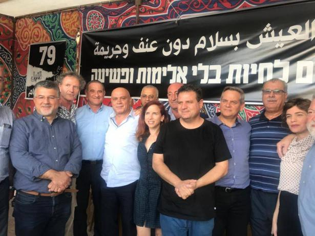 كتلة المعسكر الديمقراطي ميرتس بزيارة تضامنية لخيمة الإعتصام ضد الجريمة