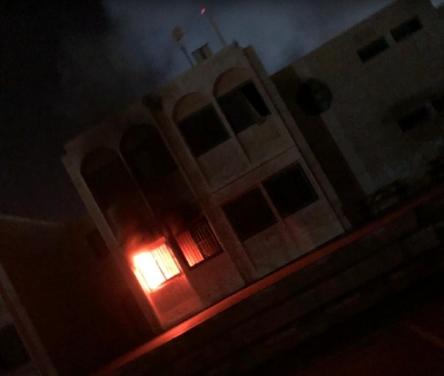 تل السبع: اندلاع حريق في مدرسة الرسالة وأضرار جسيمة
