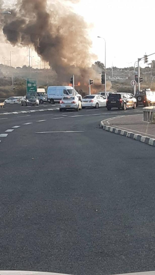 حريق بشاحنة تجارية قرب شفاعمرو