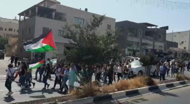 مسيرة في سخنين احياءً للذكرى الـ 19 لهبة القدس والأقصى