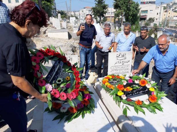 احياء ذكرى هبة القدس والأقصى وزيارة اضرحة شهداء سخنين: عماد غنايم، وليد أبو صالح