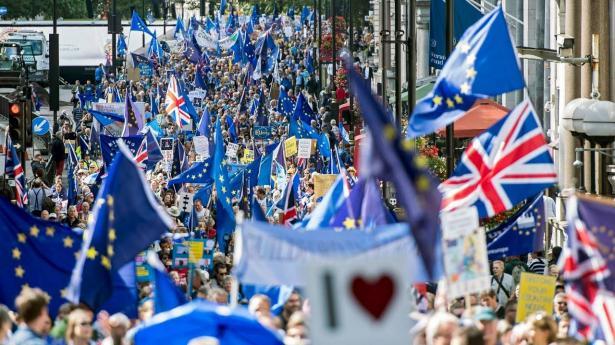 متظاهرون في لندن للمطالبة باجراء استفتاء اخر للاستقلال عن الاتحاد الاوروبي