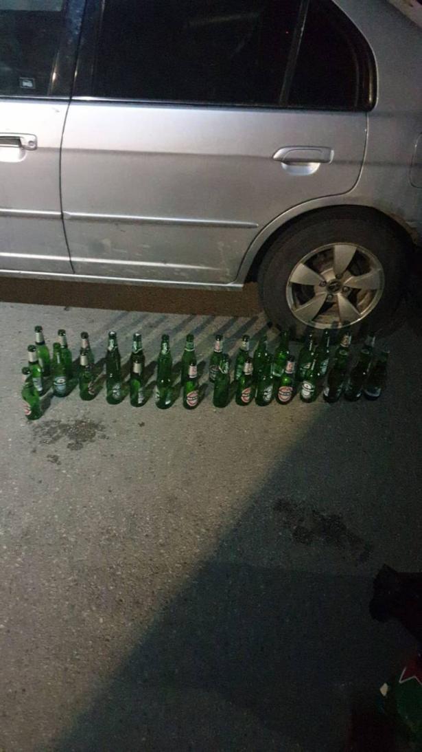 ضبط سائق (21 عامًا) من سخنين يقود تحت تأثير الكحول وبحوزته 30 زجاجة بيرة