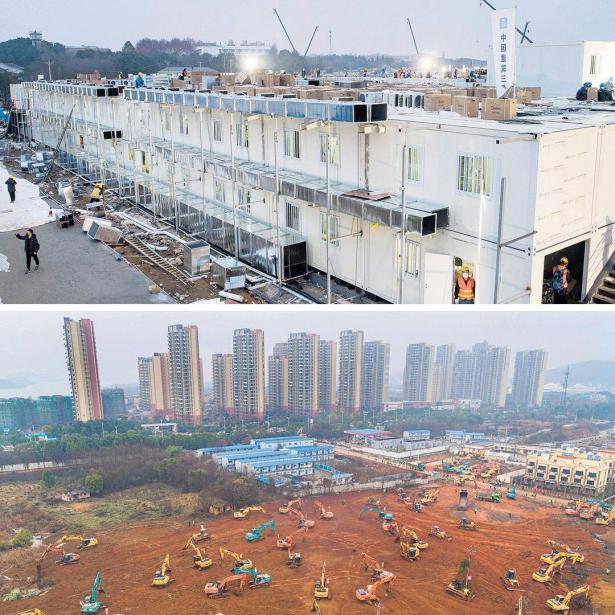 الصين تنتهي من بناء مستشفى لعلاج مصابي