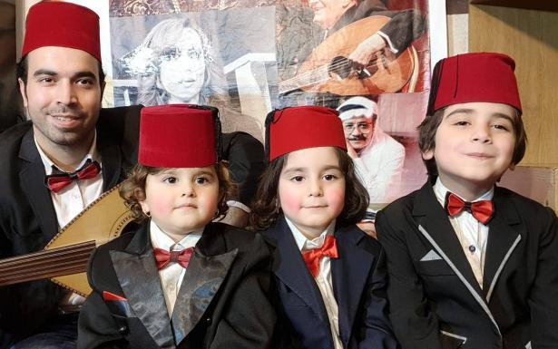 اذاعة الشمس في لقاء حصري مع الفنان السوري علاء جركس وابناءه