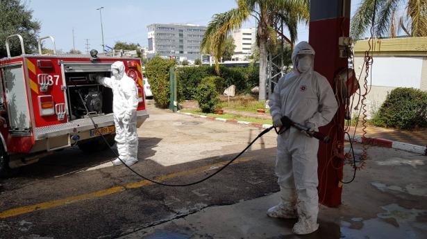 في أعقاب تفشي فيروس كورونا: اجراءات واستعدادات خاصة في سلطة الاطفاء والانقاذ