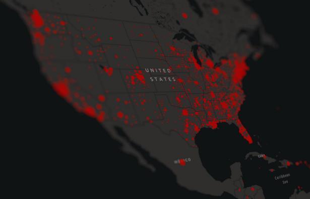 الولايات المتحدة : 1635 حالة وفاة جرّاء الاصابة بفيروس كورونا خلال الـ 24 ساعة الماضية