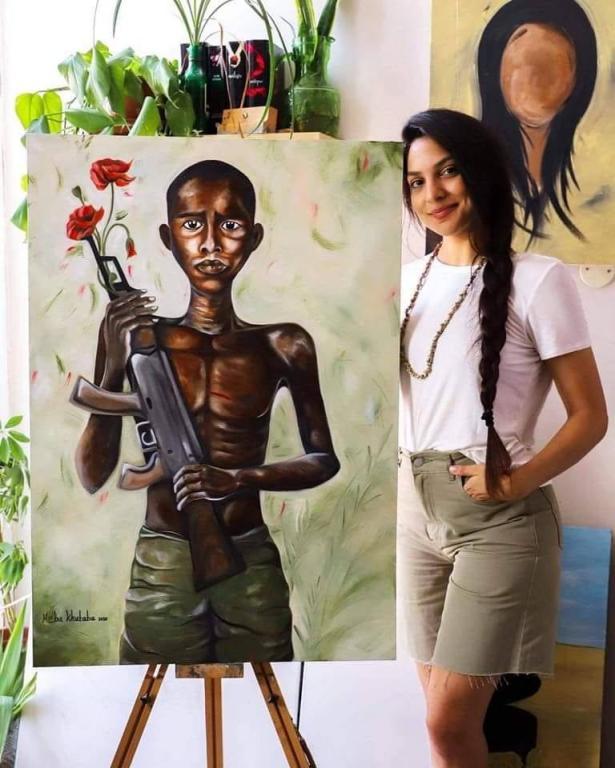 الفن كرسالة انسانية: الفنانة هبة خطبا تتحدث عن لوحتها